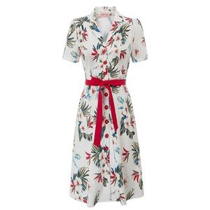 Belle Poque 1950s Floral Midi Dress